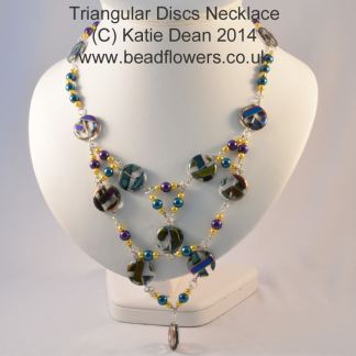 Triangular Disc Necklace