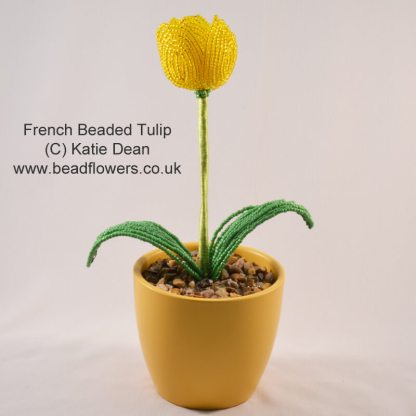 French beaded tulip pattern