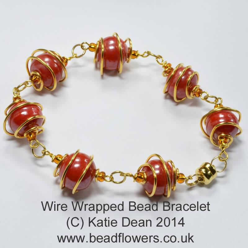 Wire Wrapped Bead Bracelet