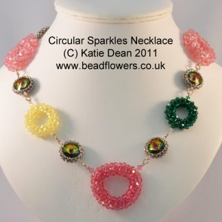 Swarovski Necklace: Circular Sparkles Beading Pattern