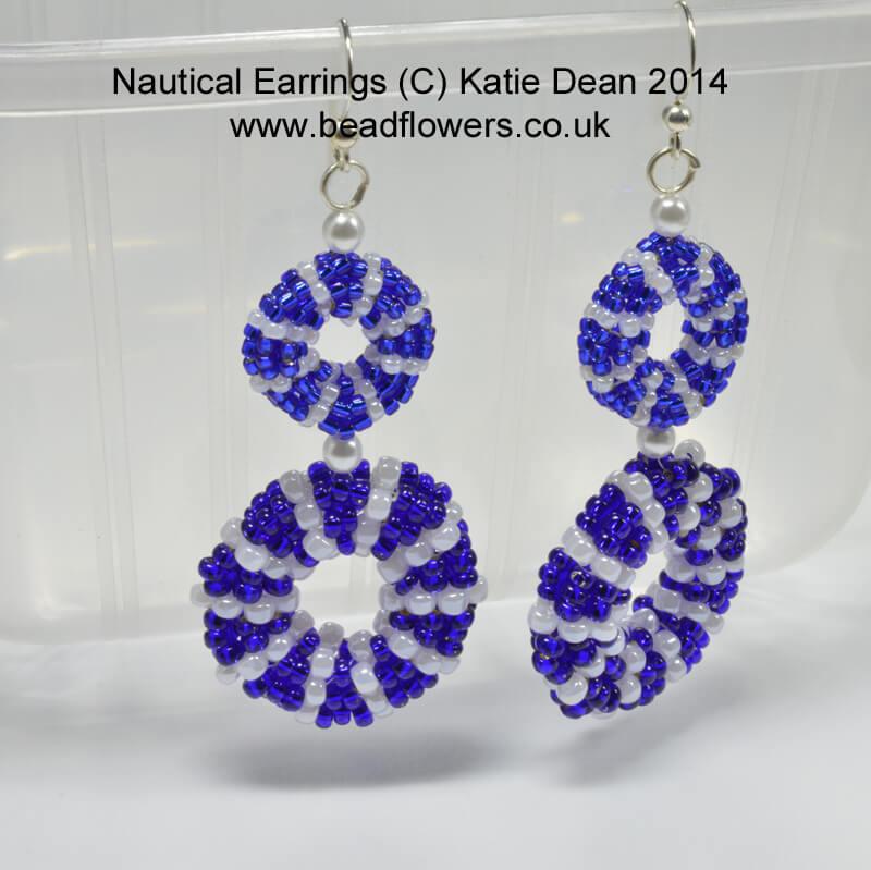 Nautical earrings beading pattern