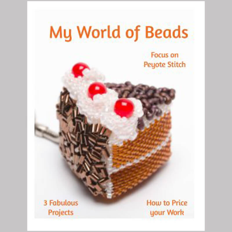Focus on Peyote stitch booklet, My World of Beads, Katie Dean, Beadflowers