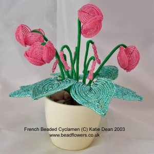 French beaded cyclamen