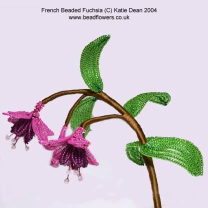 French beaded fuchsia