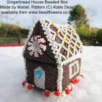 Gingerbread house beaded box