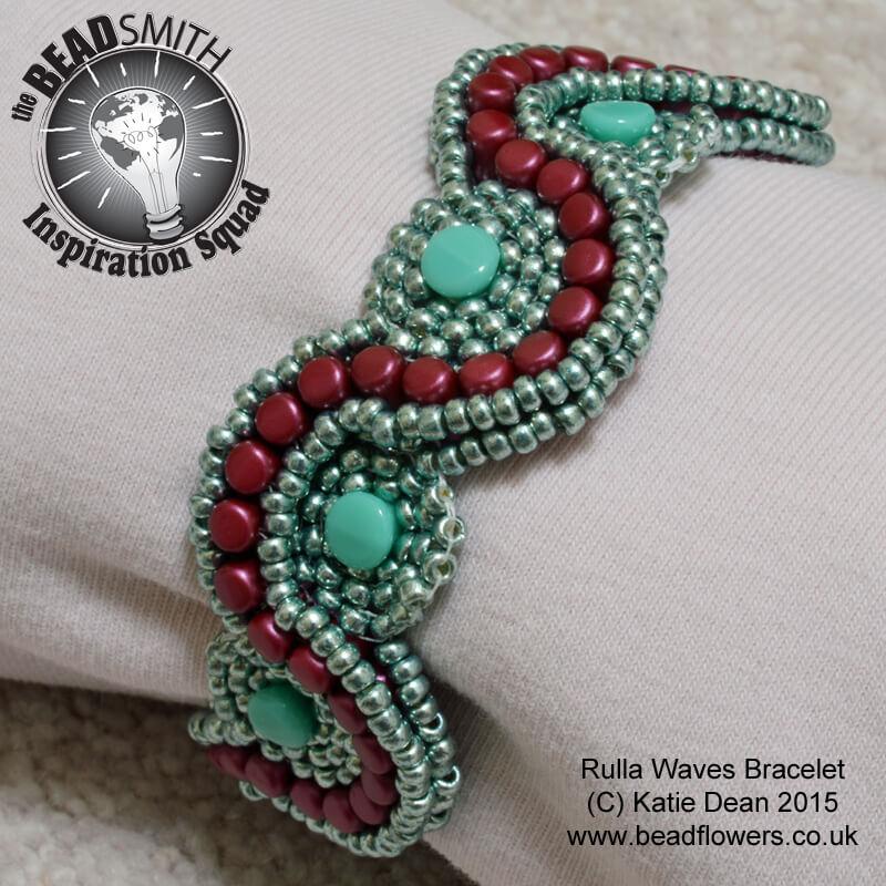 Rulla Beads Bracelet Pattern, Katie Dean, Beadflowers