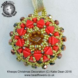 Kheops Beads Christmas Decoration Pattern, Twelve Months of Christmas