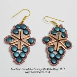 Ava Beads Snowflake Earrings