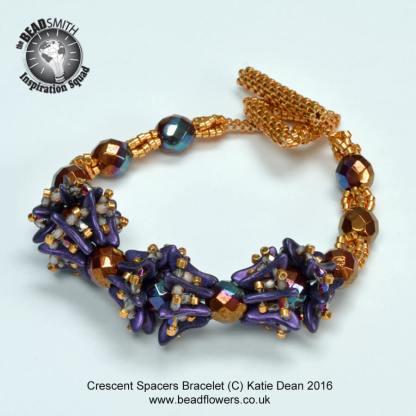 Crescent Beads Spacers Bracelet