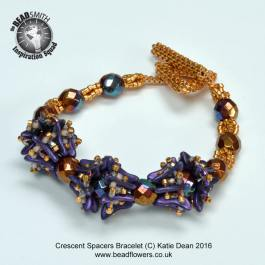Crescent Beads Spacers Bracelet