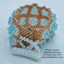 Peyote Texture Bejewelled Bracelet