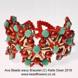 AVA beads tutorial: wavy bracelet