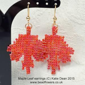 Maple leaf bead pattern