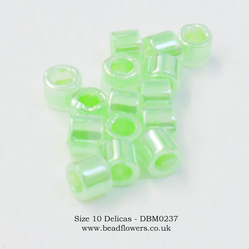 Size 10 Delicas, UK, Buy 10g packs from Katie Dean, Beadflowers