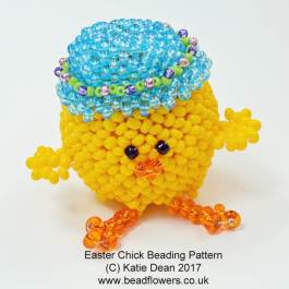 beaded Easter Chick, Easter chick beading kit, Katie Dean, Beadflowers