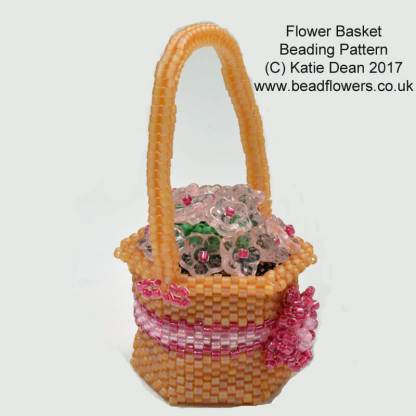 Beaded Flower Basket