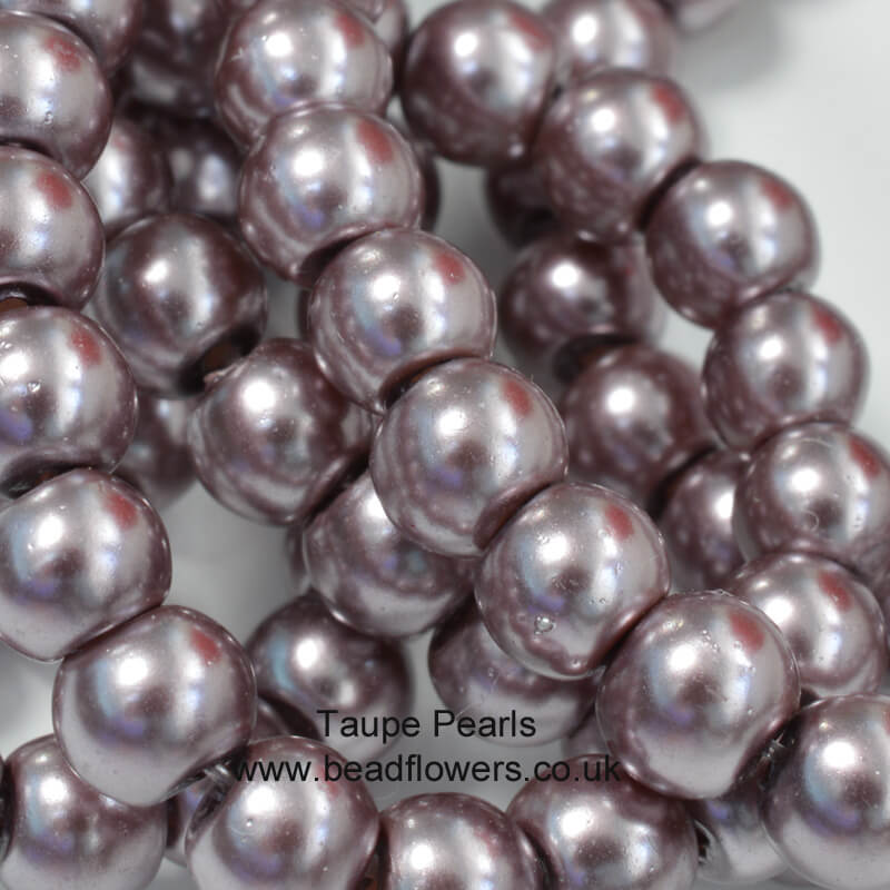 4mm Pearls in Taupe