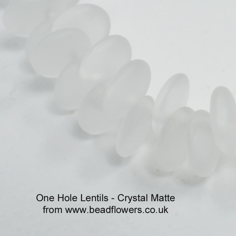 One Hole Lentil Beads