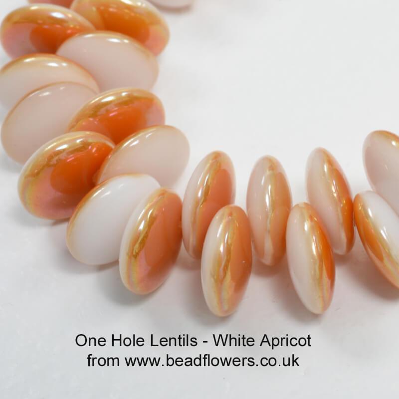One Hole Lentil Beads