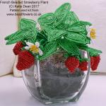 French beaded strawberry plant tutorial