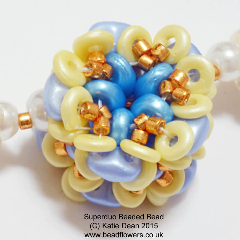 Superduo Beaded Bead