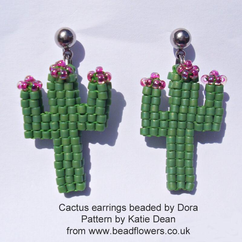 Beaded Cactus earrings