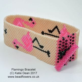 Flamingo Bead Pattern: Bracelet