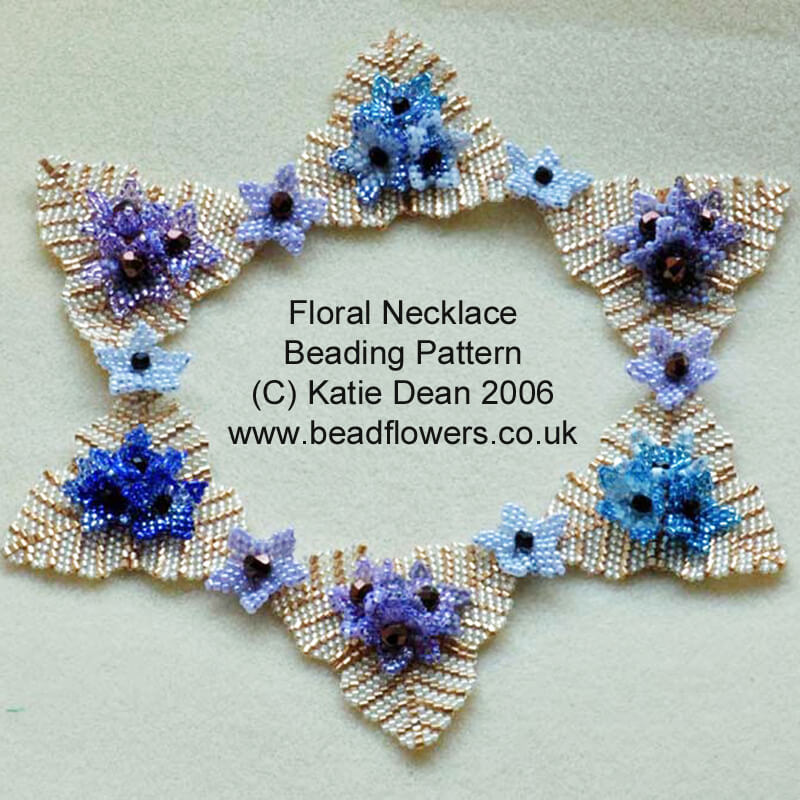 Summer Flowers Necklace Beading Pattern