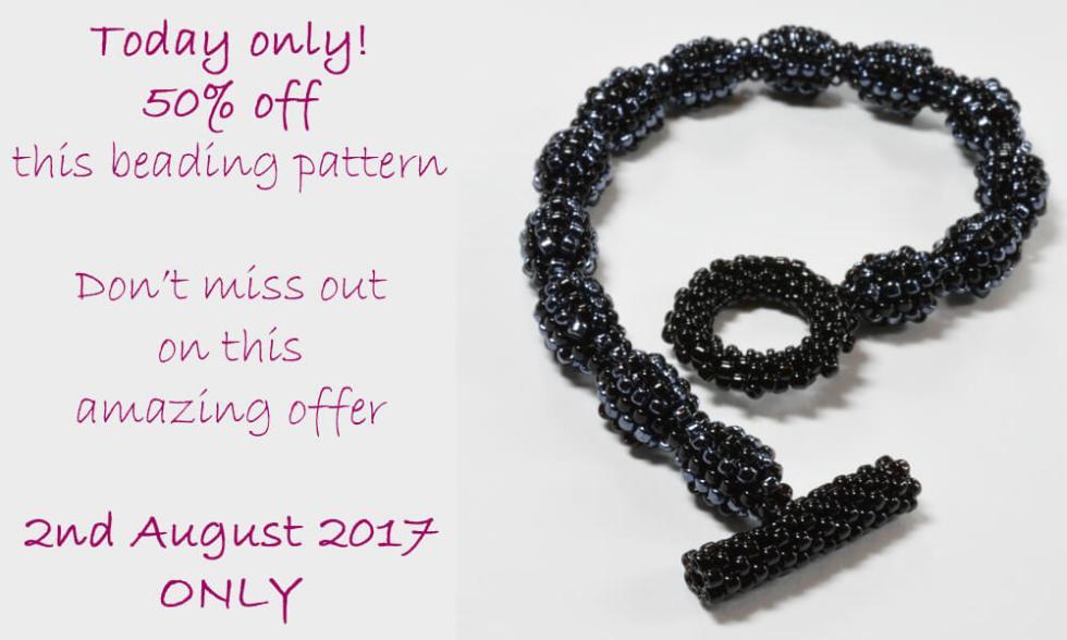 Beginner's Peyote Increase Decrease Bracelet Pattern by Katie Dean, Beadflowers