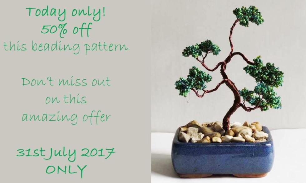 Beaded Bonsai Tree Pattern by Katie Dean, Beadflowers