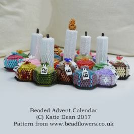 Beaded Advent Calendar kit or Pattern by Katie Dean, Beadflowers