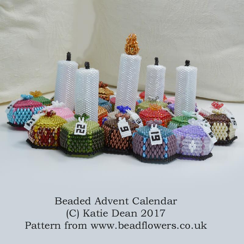 Beaded Advent Calendar kit or Pattern by Katie Dean, Beadflowers