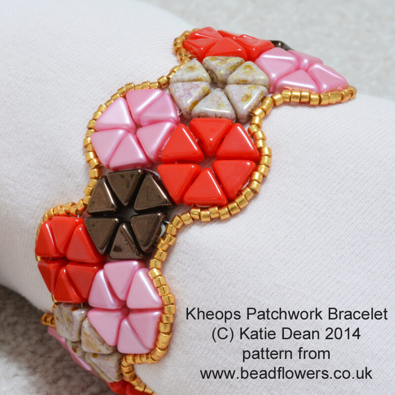 Beaded Bracelet Pattern: Stunning Kheops Par Puca Patchwork by Katie Dean
