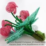 French beaded cyclamen by Katie Dean, Beadflowers