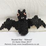 Beaded Bat Pattern, Katie Dean, Beadflowers