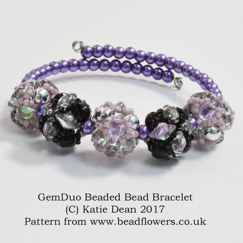 93043b4e7 GemDuo Beaded Bead Bracelet Pattern ~ Katie Dean ~ Beadflowers