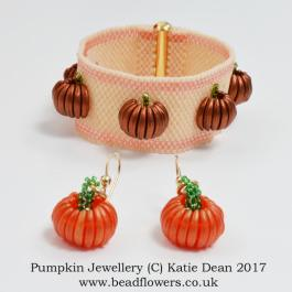 Pumpkin Jewellery Beading Pattern, Katie Dean, Beadflowers