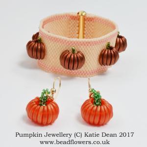 Pumpkin Jewellery Beading Pattern, Katie Dean, Beadflowers