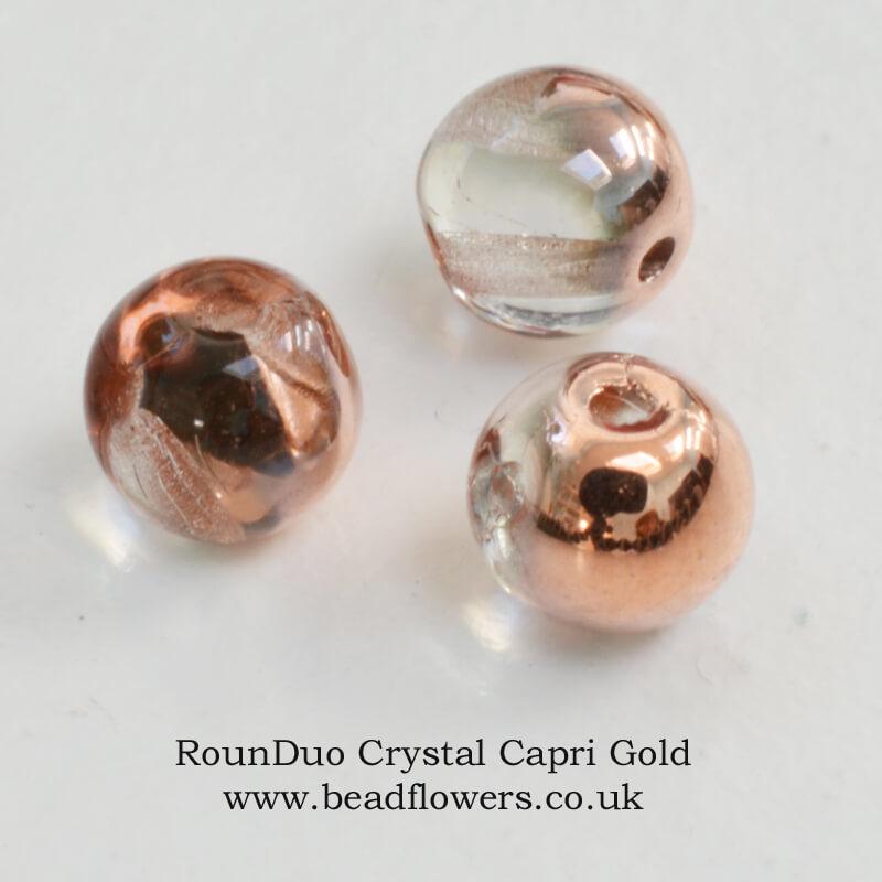 RounDuo Beads UK, 75 beads per pack, Katie Dean, Beadflowers