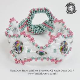 GemDuo Bracelet Pattern: Snow and Ice, Katie Dean, Beadflowers