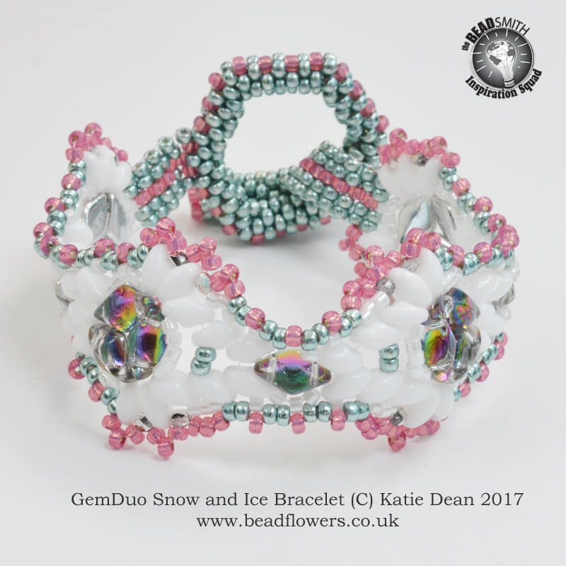 GemDuo Bracelet Pattern: Snow and Ice, Katie Dean, Beadflowers