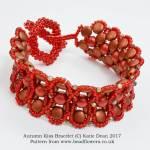 Autumn Kiss Bracelet Pattern, Katie Dean, Beadflowers
