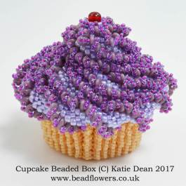 Cupcake Beaded Box Kit, Pattern, Katie Dean, Beadflowers