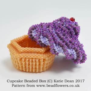 Cupcake Beaded Box Pattern, Katie Dean, Beadflowers