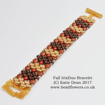 Fall IrisDuo Bracelet Pattern, Katie Dean, Beadflowers