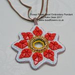 Flower Power Bead Pendant Pattern, Katie Dean, Beadflowers