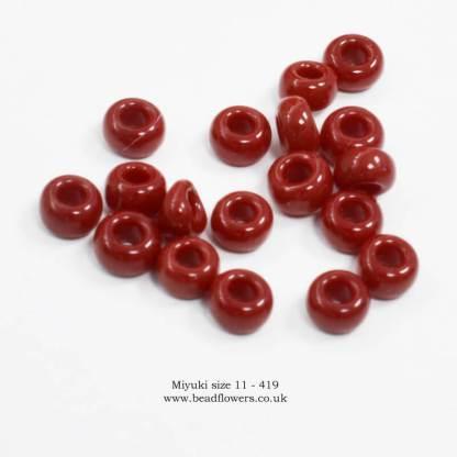 Miyuki size 11 seed beads for sale, UK, Katie Dean, Beadflowers
