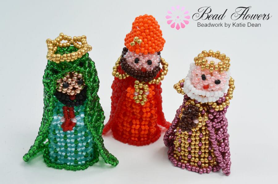 Beaded Nativity Set, Jewellery Maker TV, Katie Dean, Beadflowers