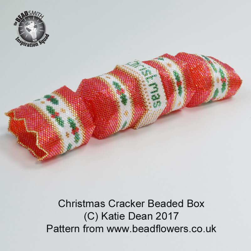 Beaded Christmas Cracker Box Pattern, Katie Dean, Beadflowers