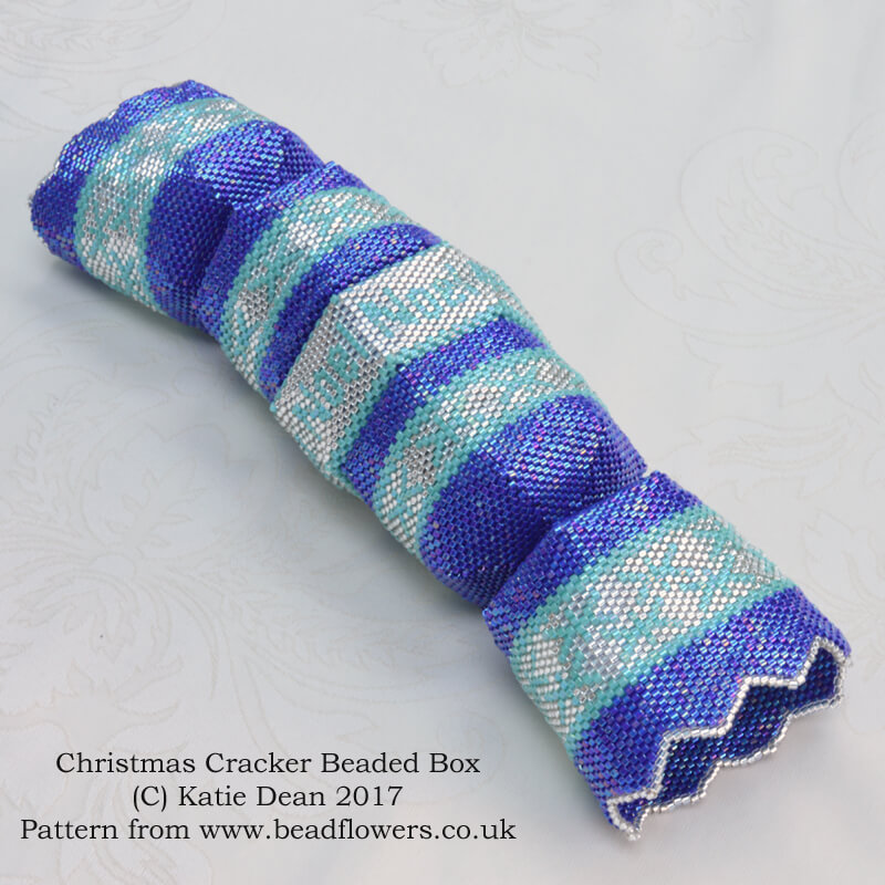 Christmas Cracker Beaded Box Pattern, Katie Dean, Beadflowers
